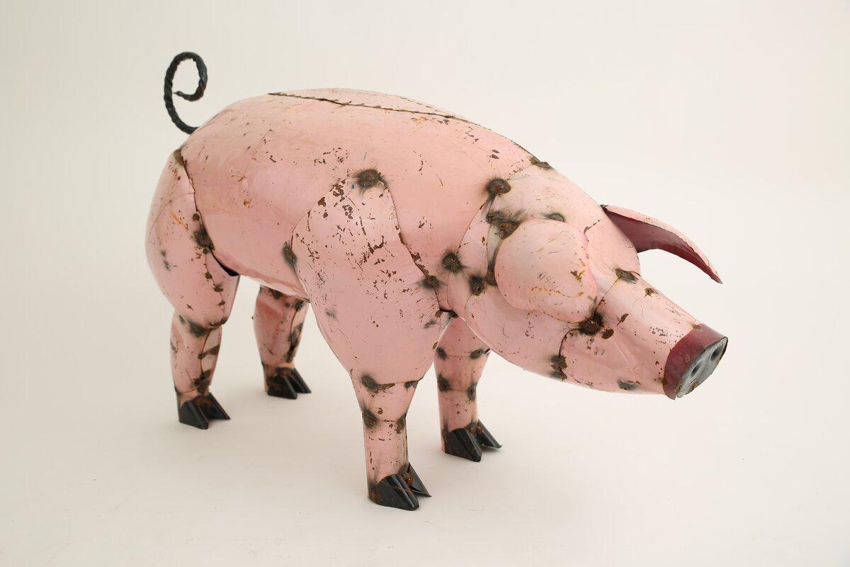 Maricela The Pig-Recycled Metal Figurine