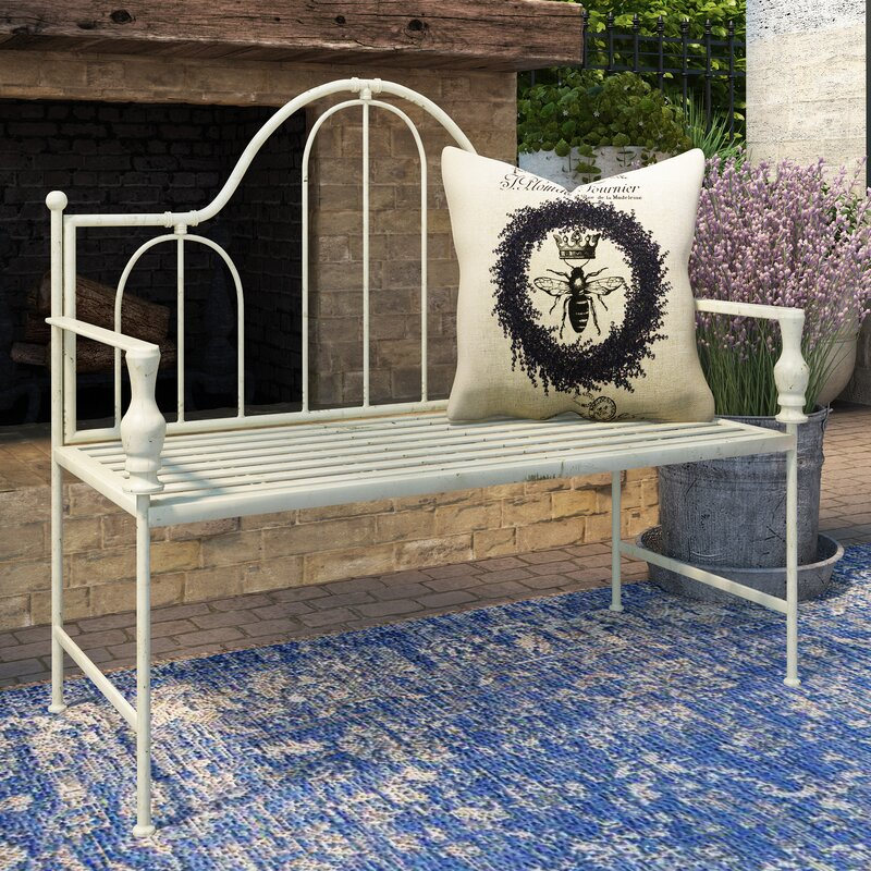 Artic Headboard Design Metal Garden Bench