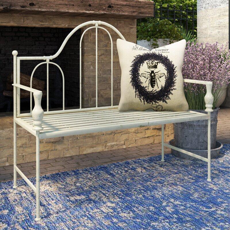 Artic Headboard Design Metal Garden Bench
