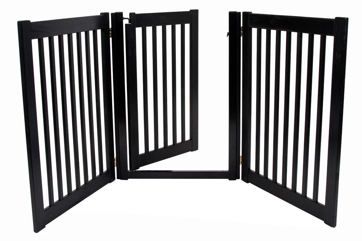 "Clarissa Handcrafted 32"" 3 Panel Walk-Through Free Standing Gate"