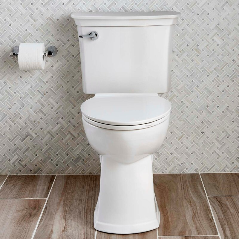 Acticlean Watersense 1.28 GPF Elongated Two-Piece Toilet (Seat Included)