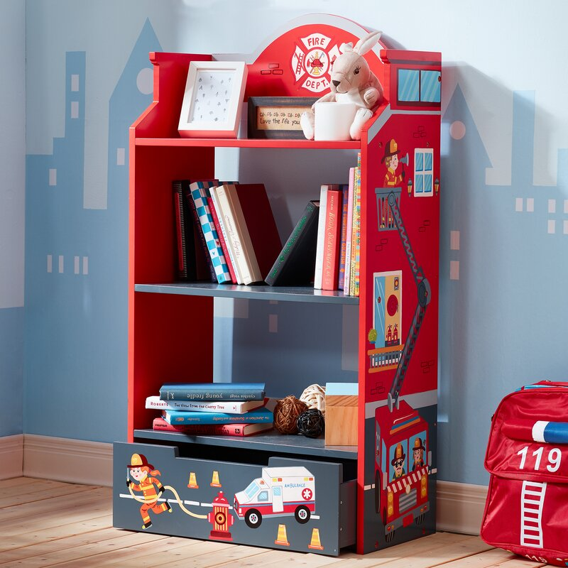 "Little Fire Fighters 42.5"" Bookcase"