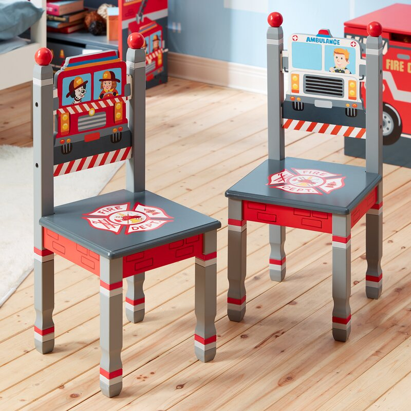 Little Fire Fighters Kids 2 Piece Chair Set