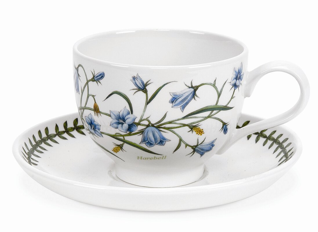 Botanic Garden Teacup & Saucer (Set of 6)