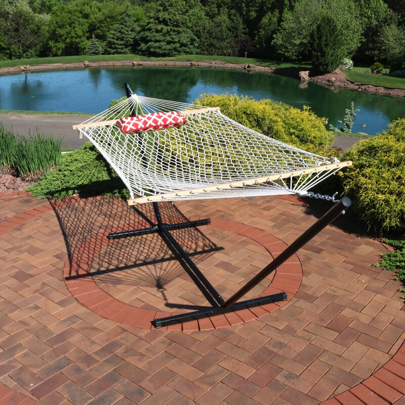 Carrollton Rope Spreader Bar Hammock with Stand