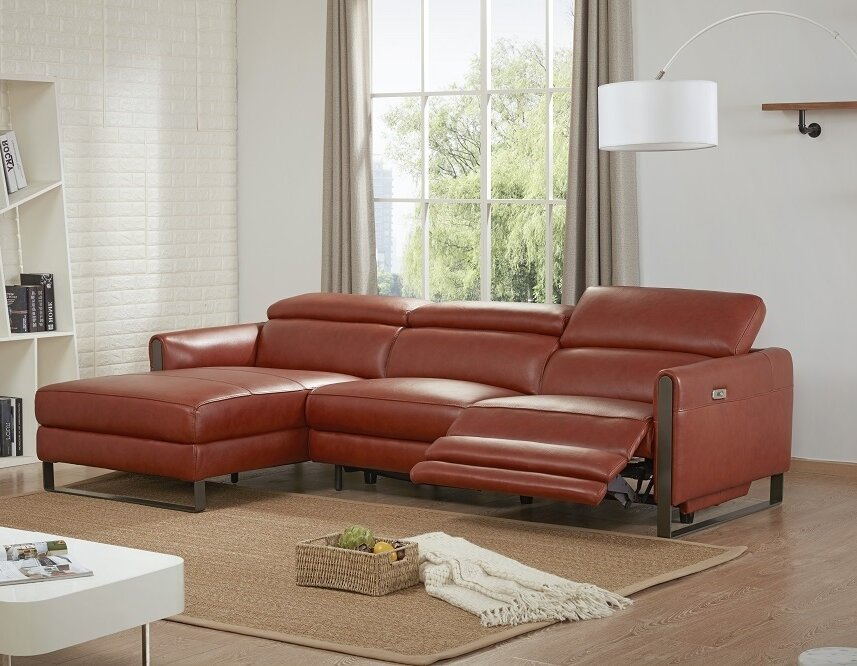 Kress Premium Leather Reclining Sectional