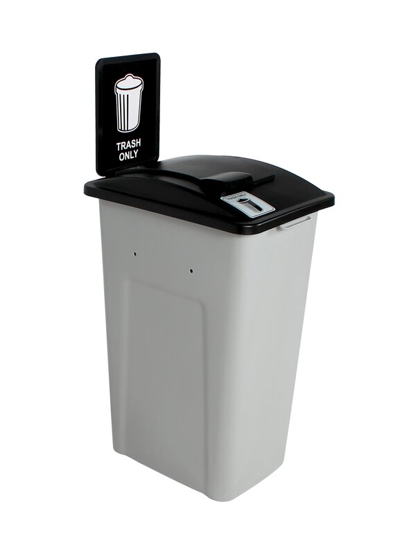 Waste Watcher® Solid Lift Single 32 Gallon Trash Can