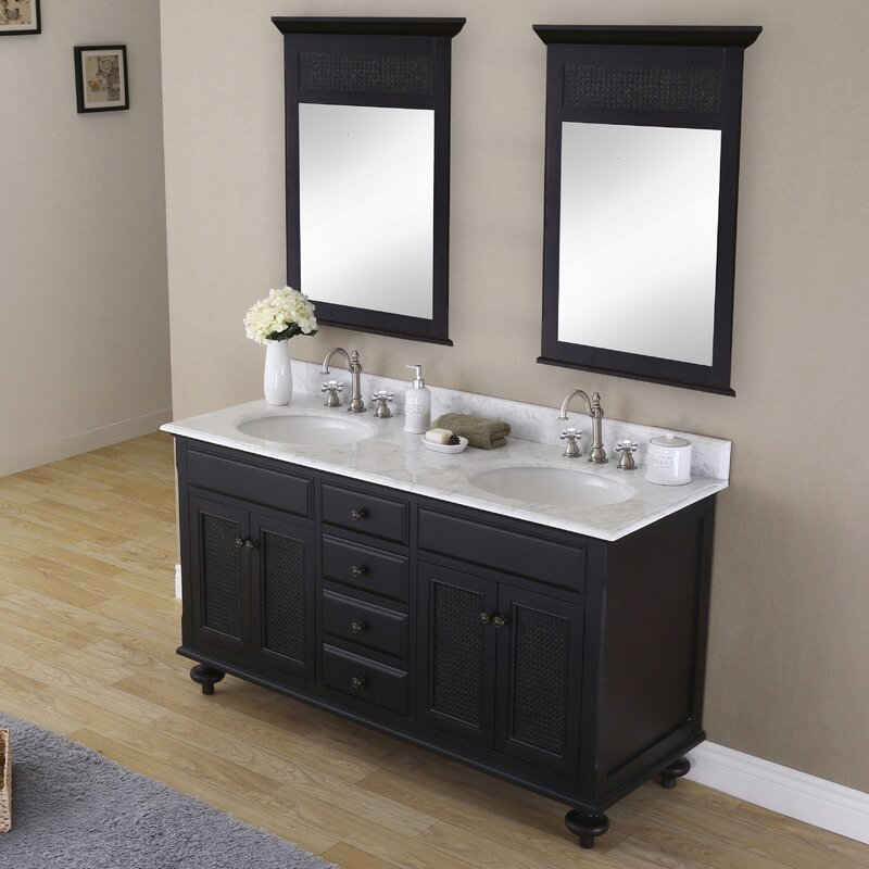 "Carlson 60"" Double Bathroom Vanity Set with Mirror"