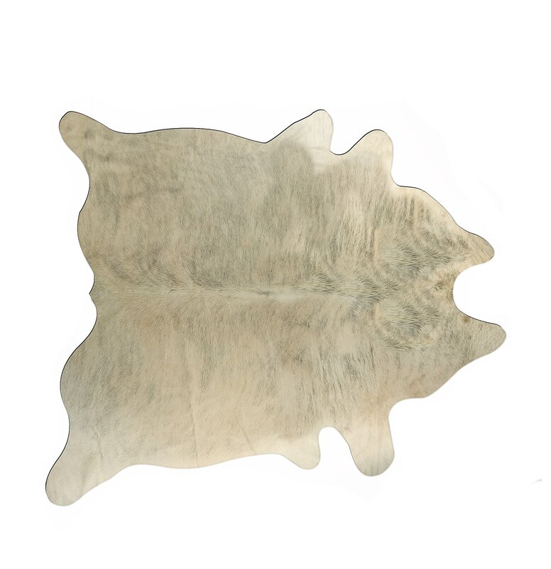 Hanson Hand-Tufted Cowhide Light Brindle Area Rug