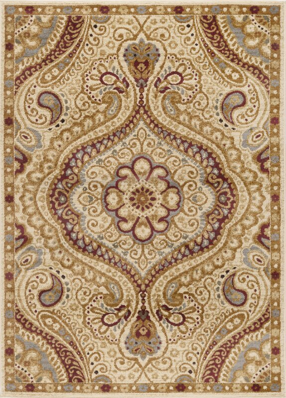 Lapoint Ivory 9 ft. 3 in. x 12 ft. 6 in. Transitional Area Rug
