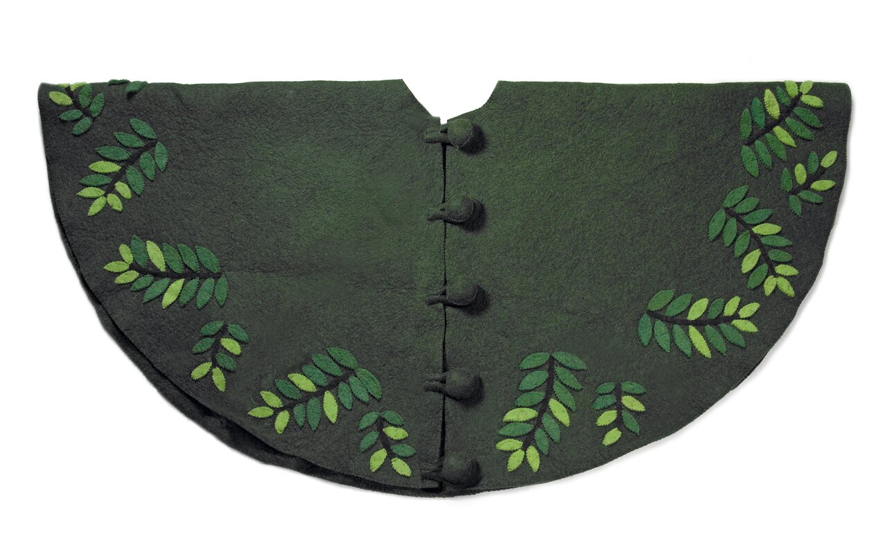 Leaves Christmas Tree Skirt