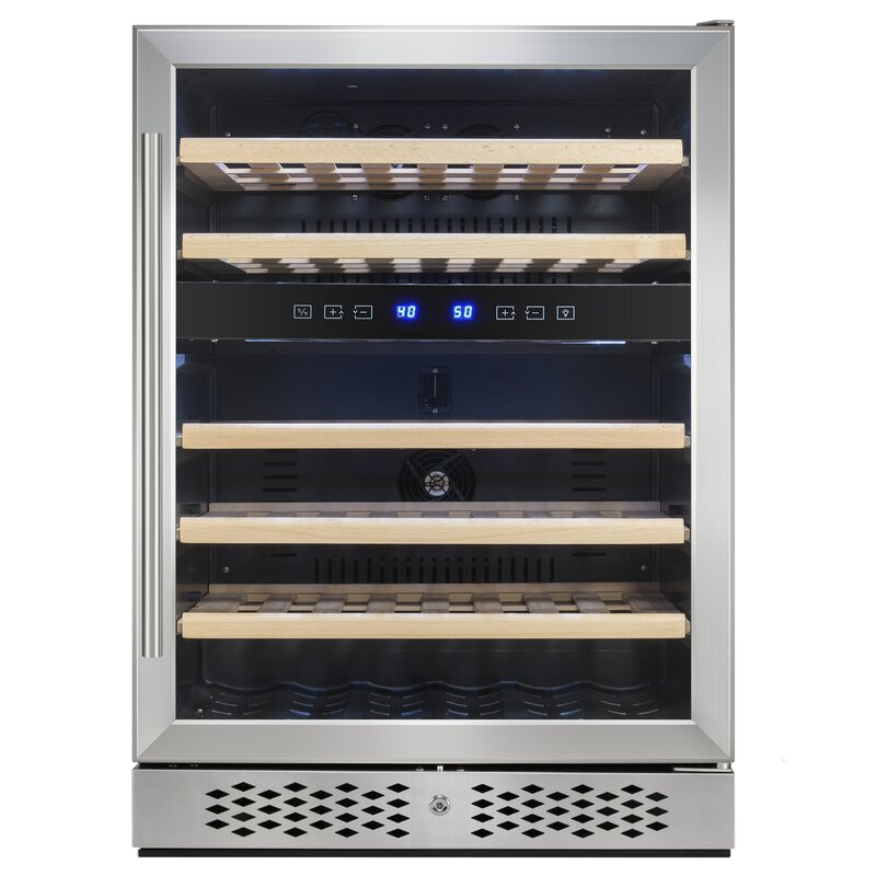 46 Bottle Dual Zone Freestanding Wine Cooler
