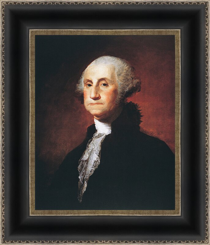 'George Washington' Framed Watercolor Painting Print Memorabilia