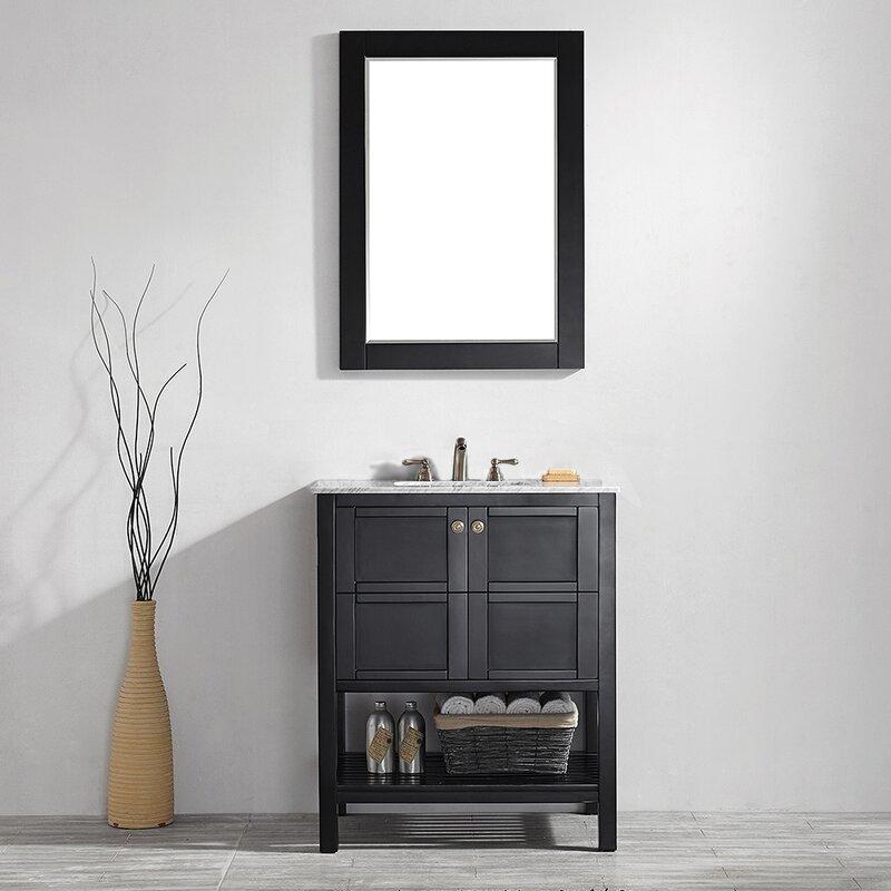 "Caldwell 30"" Single Bathroom Vanity Set with Mirror"