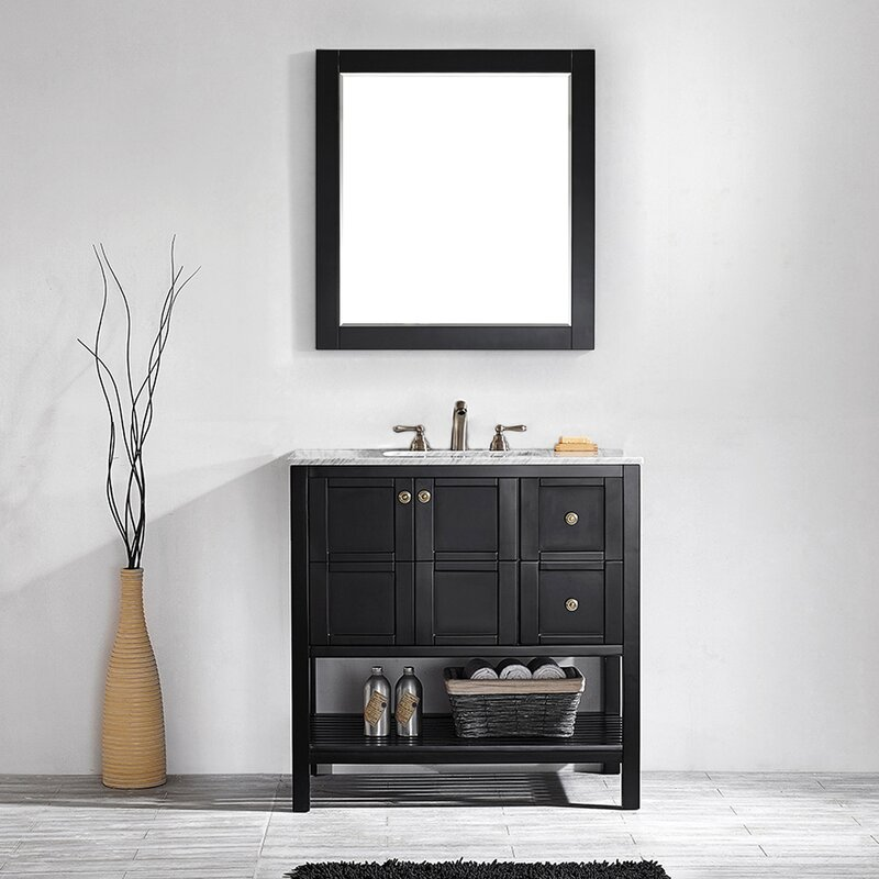 "Caldwell 36"" Single Bathroom Vanity Set with Mirror"