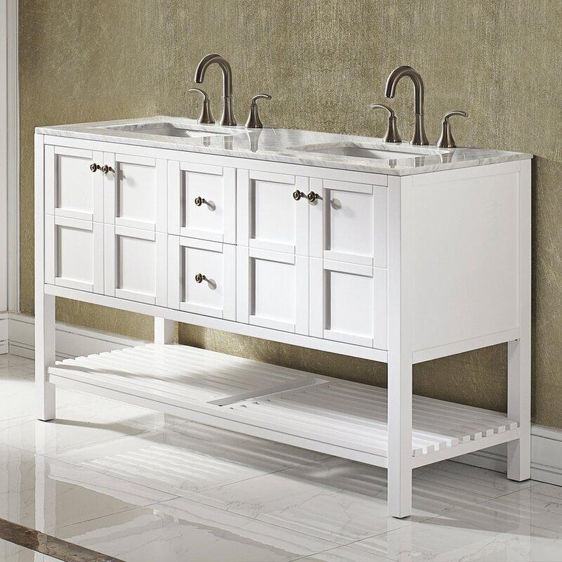 "Caldwell 60"" Double Bathroom Vanity Set"