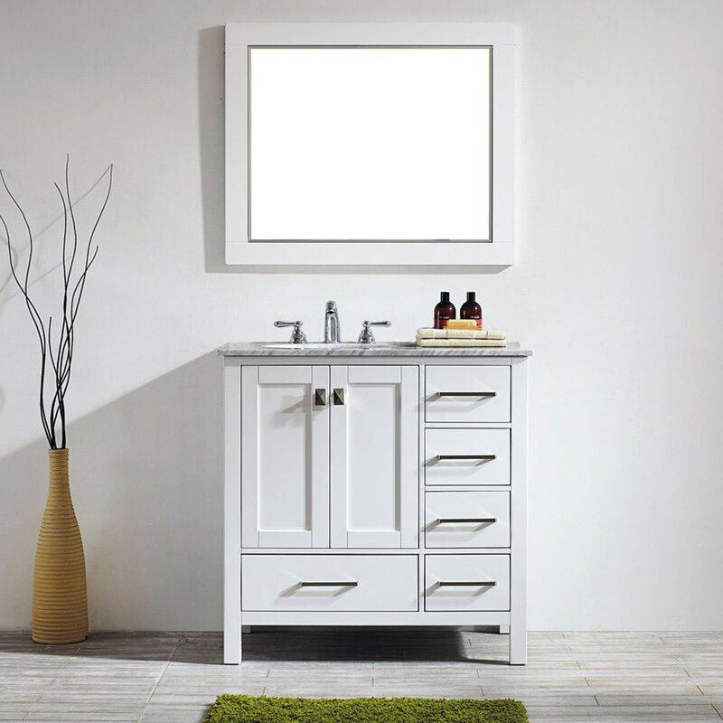 "Newtown 36"" Single Bathroom Vanity Set with Mirror"