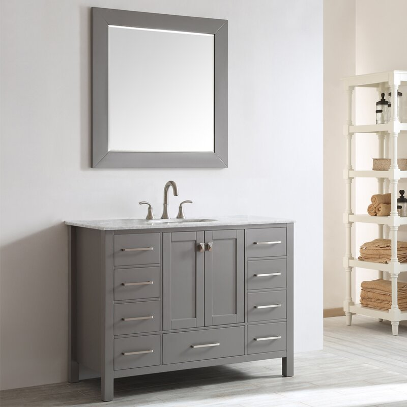 "Newtown 48"" Single Bathroom Vanity Set with Mirror"
