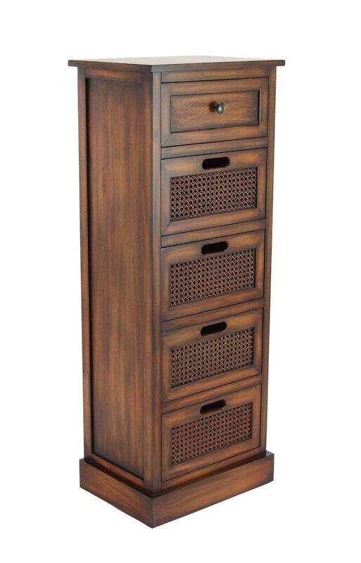 Harrisburg Rustic Rectangular Storage 5 Drawer Accent Chest