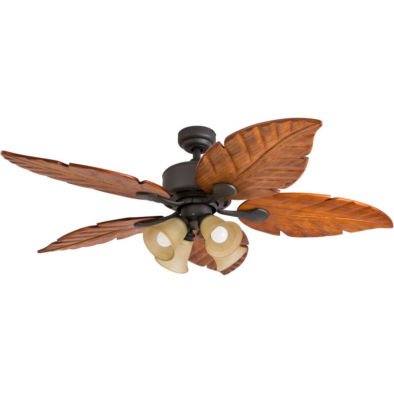 """52"""" Meadowbrook Palm Tropical 5 Blade LED Ceiling Fan"""