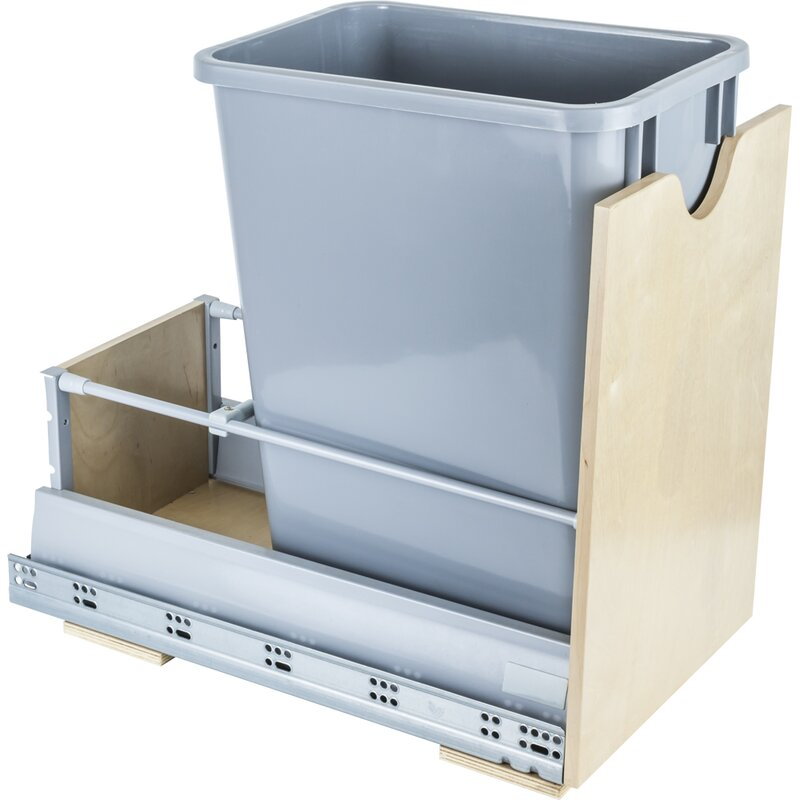 Steel 8.75 Gallon Open Pull Out/Under Counter Trash Can