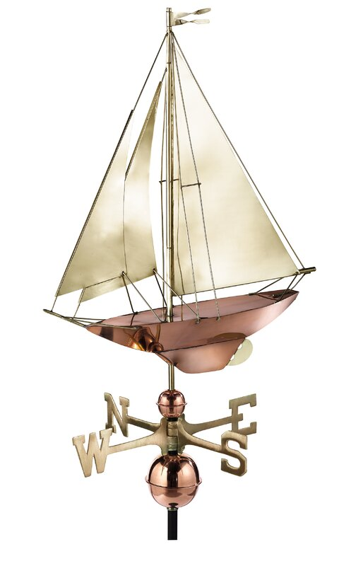Racing Sloop Weathervane