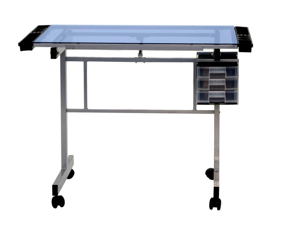 Glass Height Adjustable Drafting Table