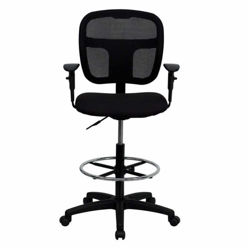 Mid-Back Ergonomic Mesh Drafting Chair