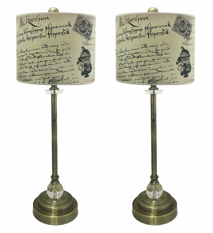 """Doritza Crystal 28"""" Buffet Lamp (Set of 2)"""