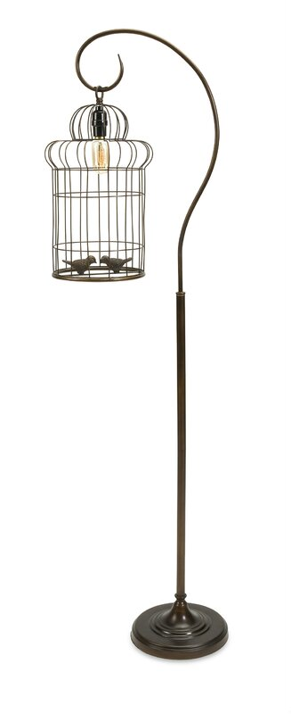 "Alida Birdcage 61"" Arched Floor Lamp"