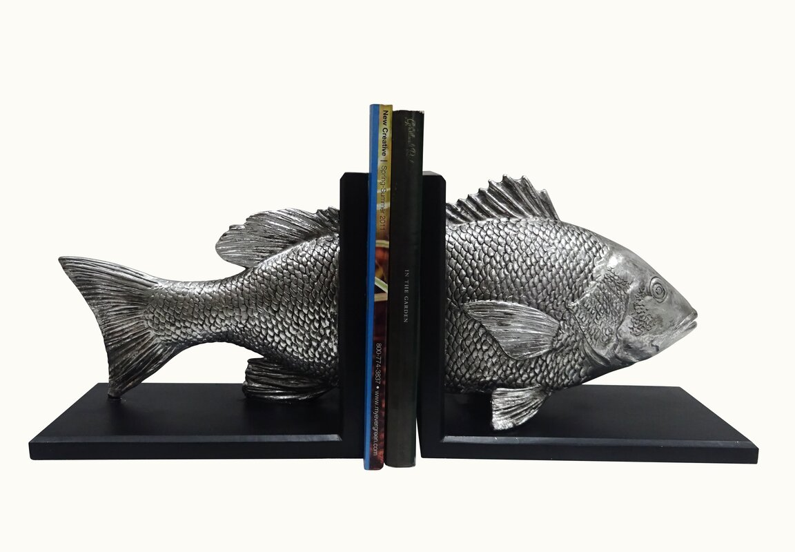 Ginsberg Snapper Non-Skid Bookends (Set of 2)