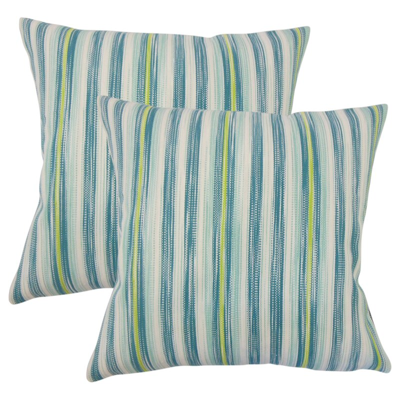 Iancarlo Striped Cotton Throw Pillow (Set of 2)