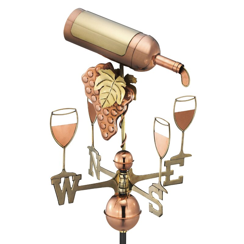 Wine Bottle Weathervane