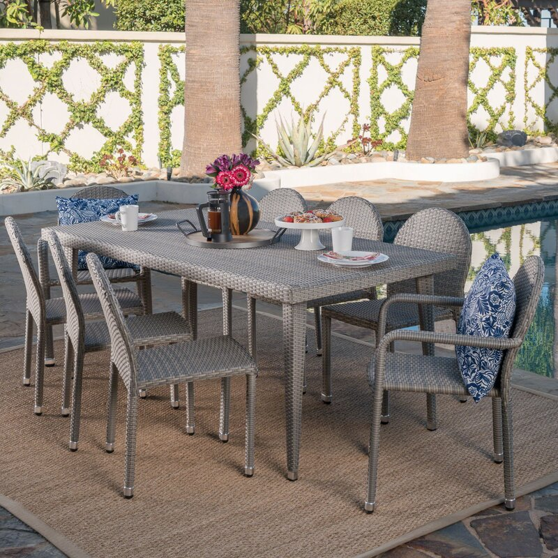 Rittenhouse Wicker Outdoor 9 Piece Dining Set