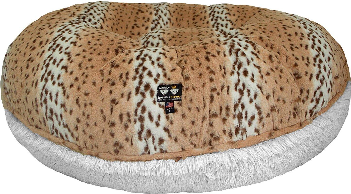 Bagel Snow Leopard Bolster