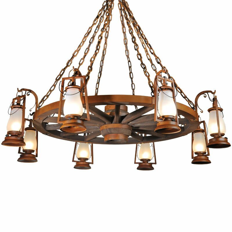 49er Series 8-Light Shaded Chandelier