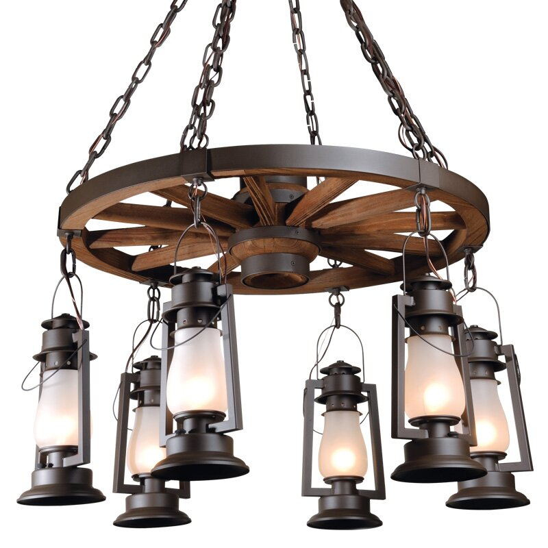 Pioneer Series 6-Light Shaded Chandelier