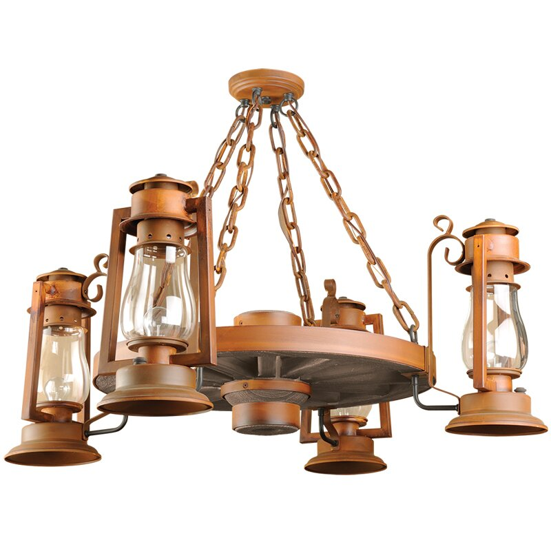 Pioneer Series 4-Light Shaded Chandelier