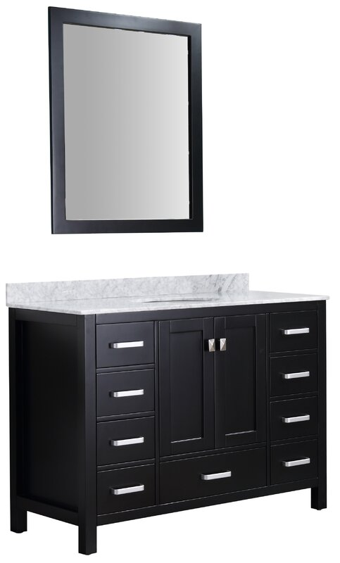 "Tia 48"" Single Bathroom Vanity Set with Mirror"