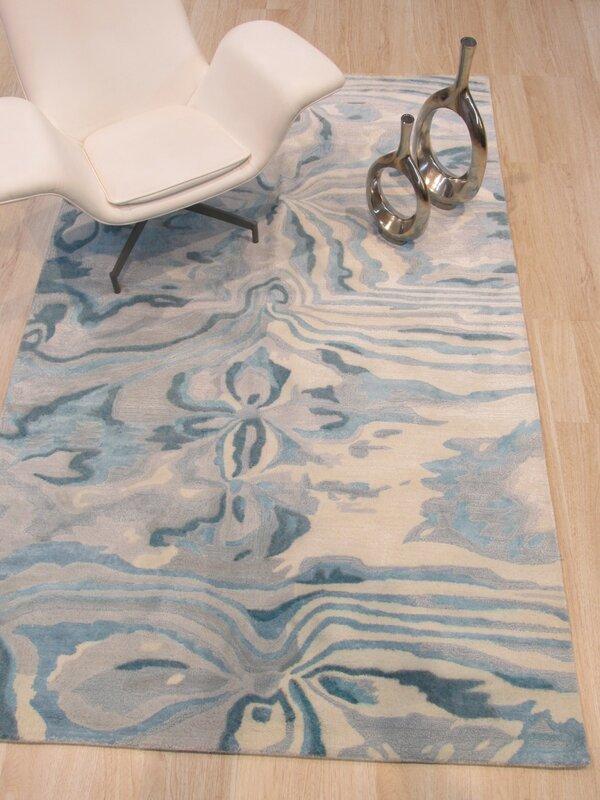 Callie Hand-Tufted Blue Area Rug