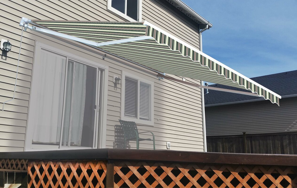 13 ft. W x 10 ft. D Retractable Patio Awning