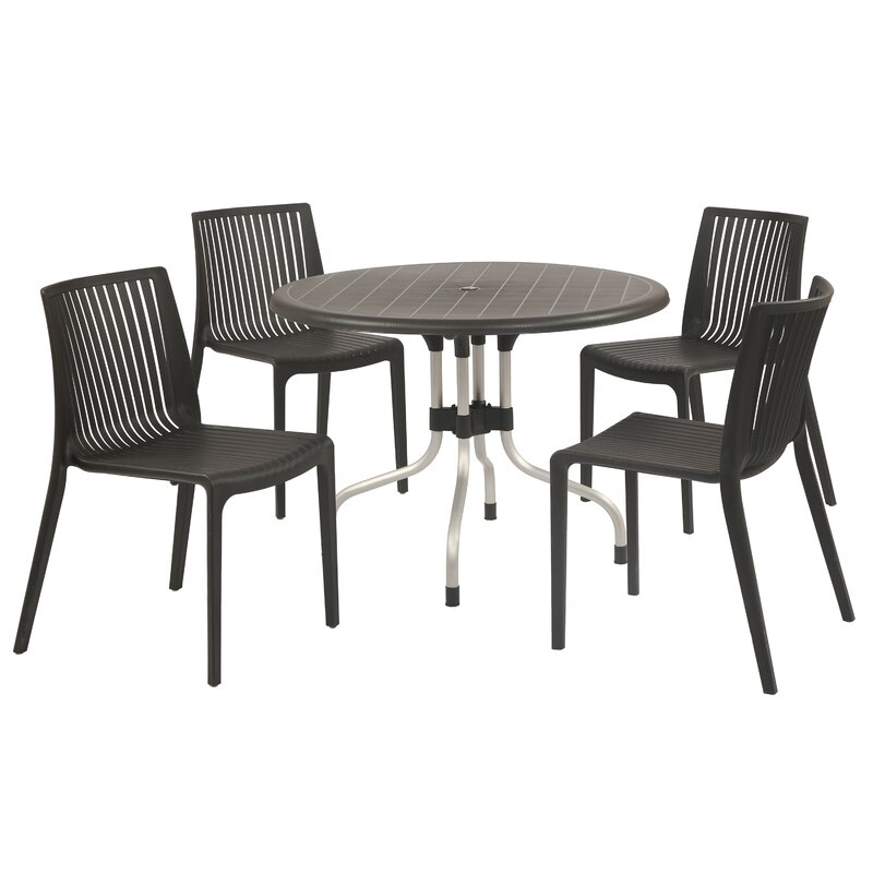 Sletten 4 Piece Dining Set