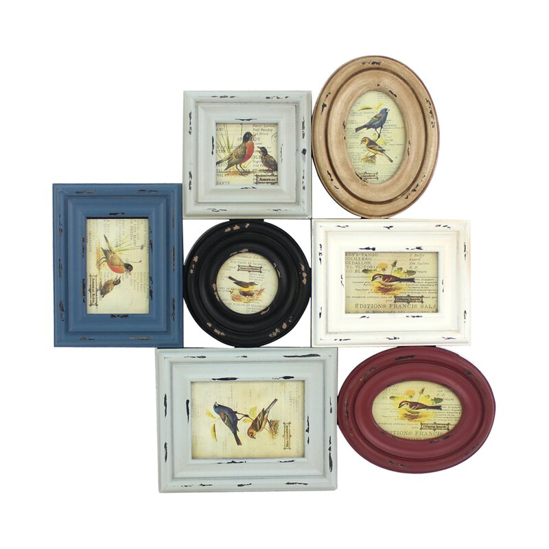 Adelhard Vintage Wooden Picture Frame Set (Set of 2)