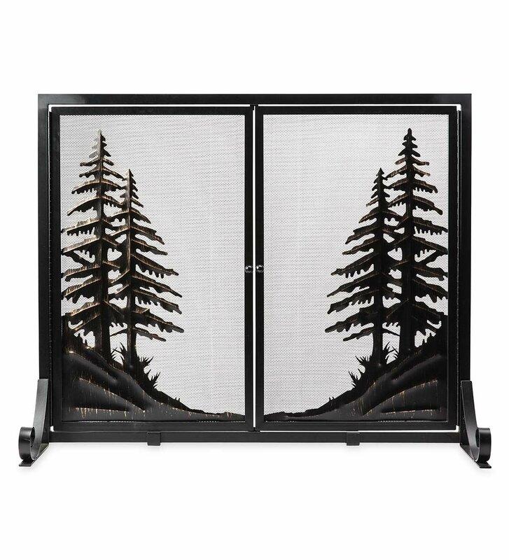 Alpine Double Panel Steel Fireplace Screen