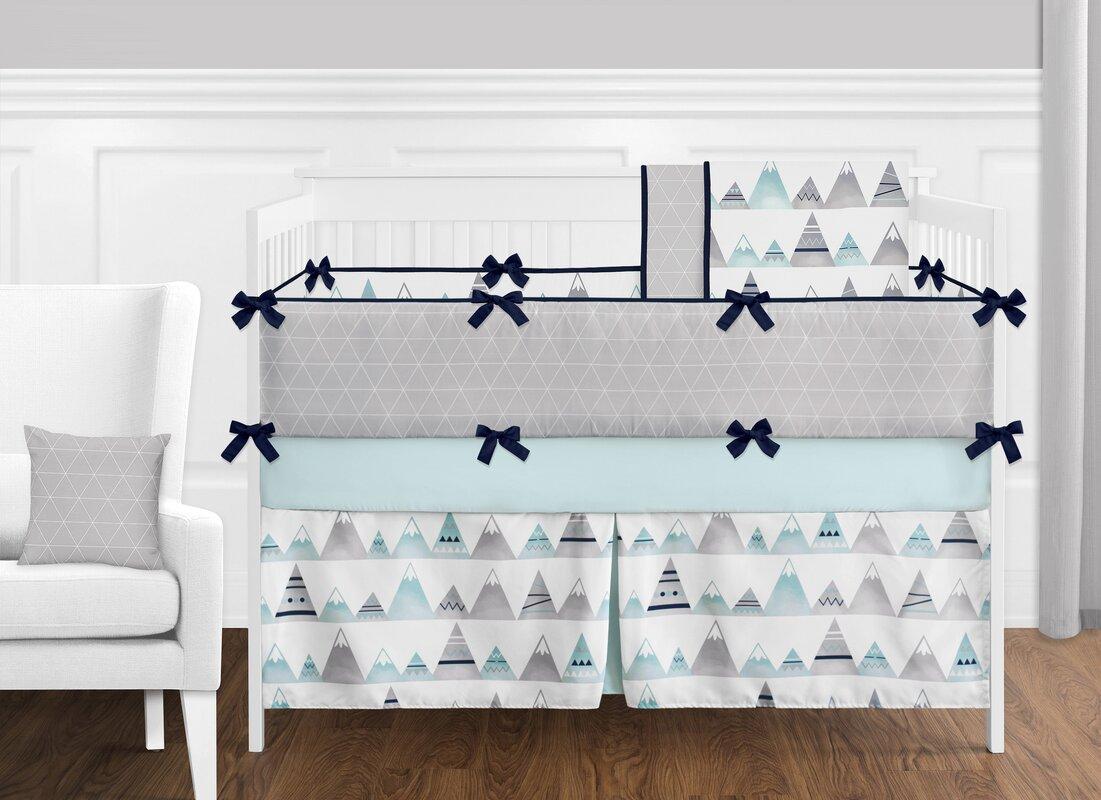 Mountains 9 Piece Crib Bedding Set