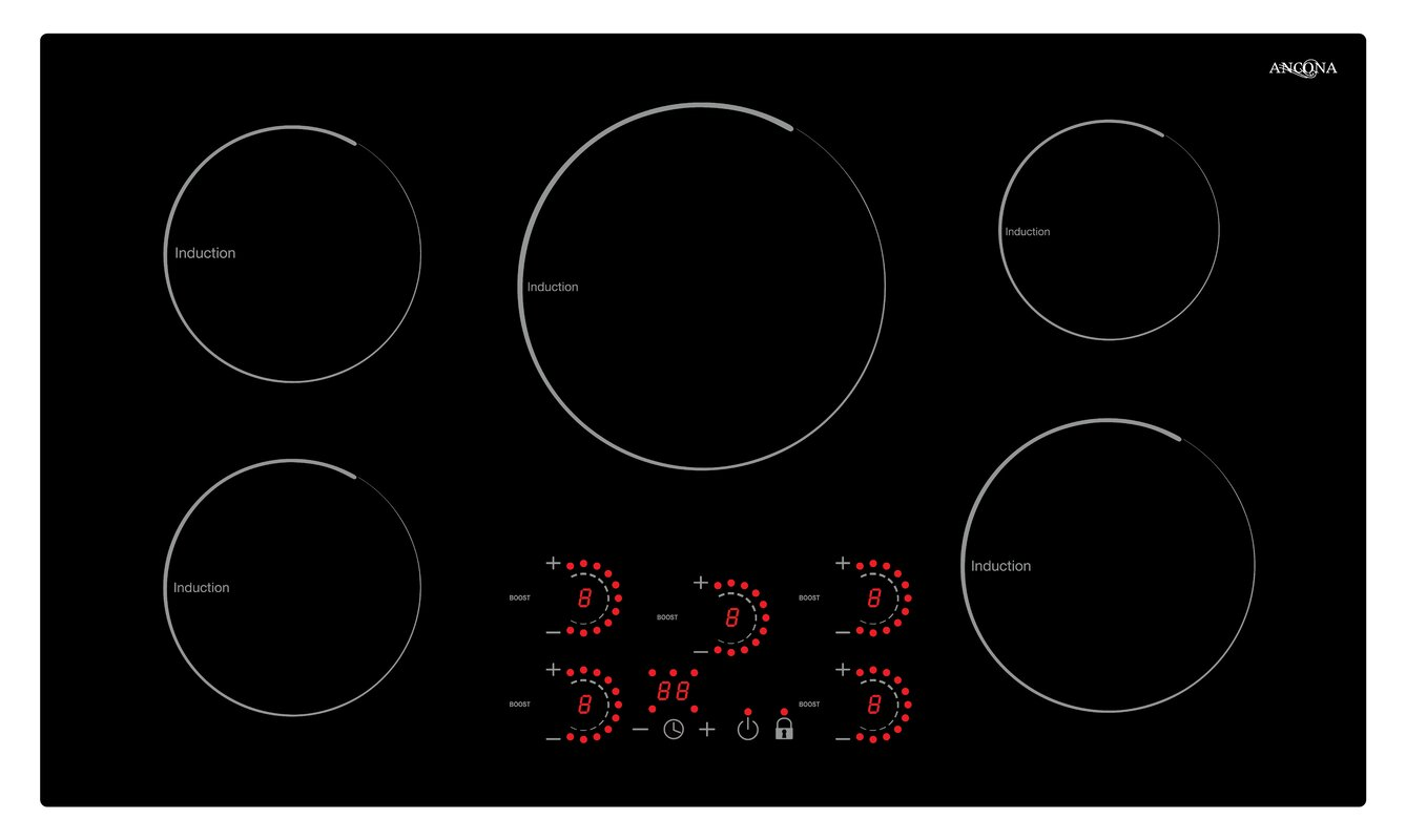 "36"" Induction Cooktop with 5 Burners"