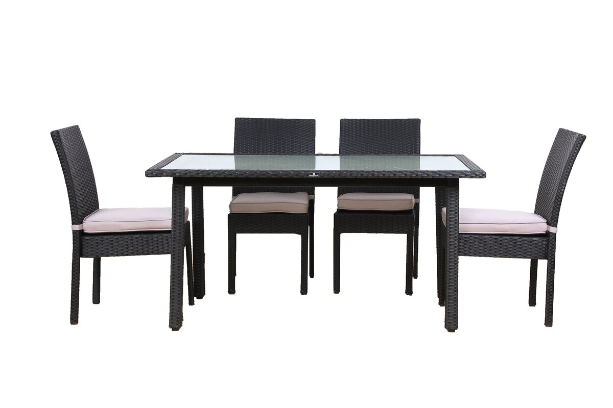 Millner 5 Piece Outdoor Dining Set with Cushions