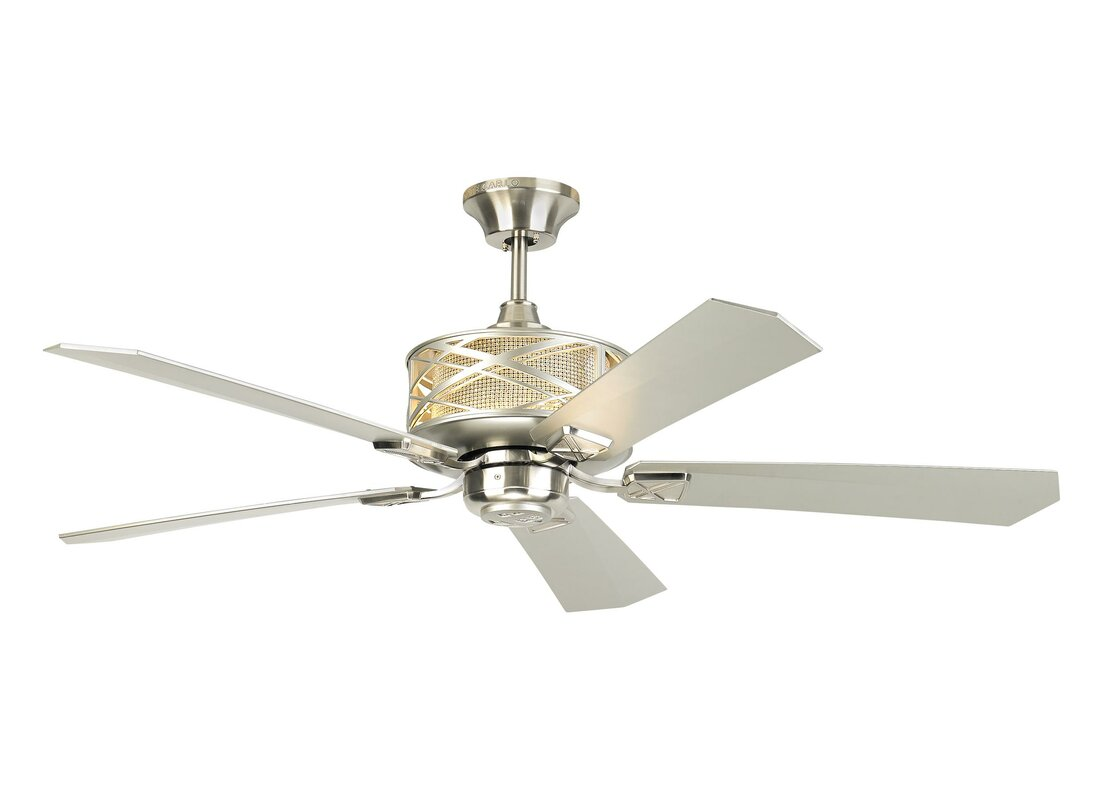 """54"""" Forsythe 5 Blade Outdoor LED Ceiling Fan with Remote"""