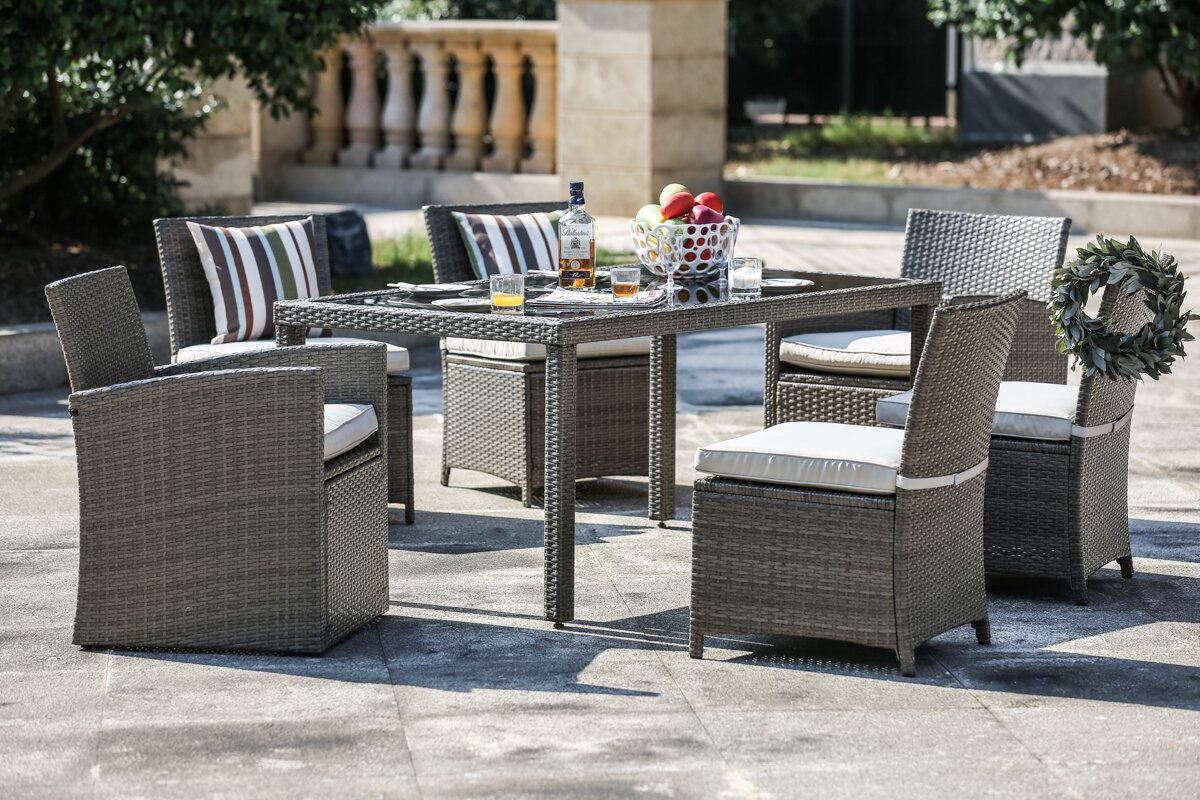Berrier 7 Piece Dining Set with Cushions