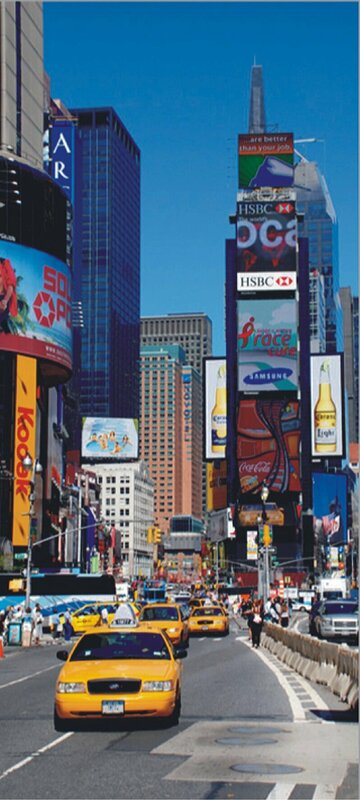 "New York City Times Square Non-Woven 6.7' L x 36"" W Wall Mural"